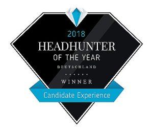 Auszeichnung Headhunter of the year 2018