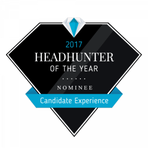 "Icon Qualitätssiegel ""Nominee Headhunter of the year 2017"""